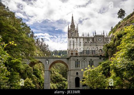 Sanctuaire de Las Lajas - Ipiales, Colombie Banque D'Images