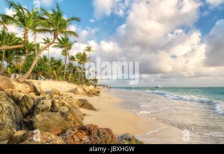 Punta Cana en République Dominicaine. Banque D'Images