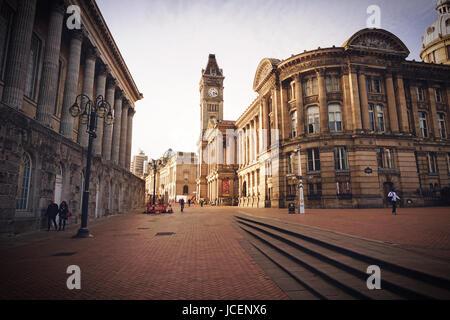 La Place Victoria à Birmingham. Birmingham UK Banque D'Images