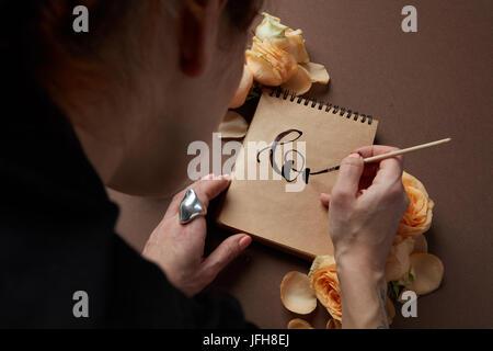 Journal ou carnet d'idées et d'émotions Banque D'Images