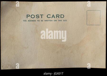 Une carte postale vierge, et de meubles anciens ou pour effet vintage. Banque D'Images