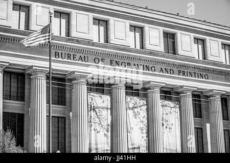 Bureau of Engraving and Printing in Washington DC - WASHINGTON / DISTRICT DE COLUMBIA - 8 AVRIL 2017 Banque D'Images