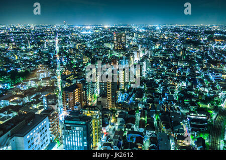 Tokyo cityscape at night Banque D'Images