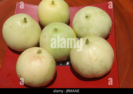 Sur la plaque de melon Banque D'Images