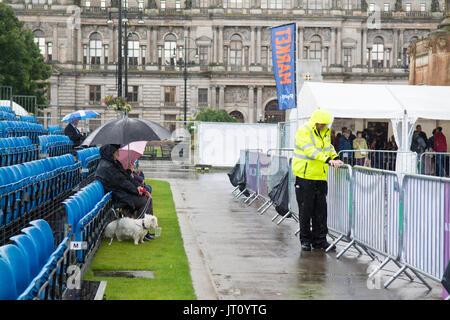 George Square, Glasgow, Ecosse, Royaume-Uni. 7e août, 2017 En direct de la tuyauterie! - Le Festival International Banque D'Images