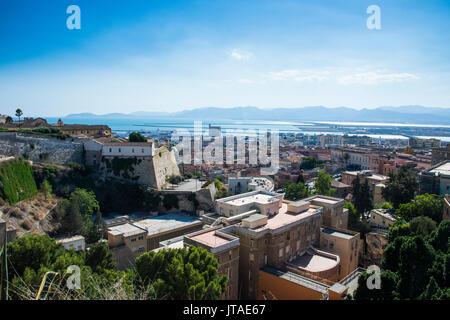 Vue sur Cagliari, Sardaigne, Italie, Méditerranée, Europe Banque D'Images