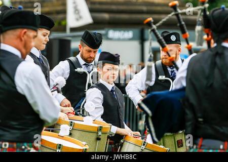 Glasgow, Royaume-Uni. 12Th Aug 2017. Il a été estimé que plus de 10 000 spectateurs se sont rendus à regarder le Banque D'Images