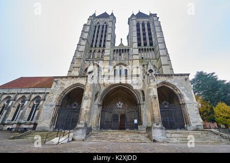 Cathédrale Notre Dame de Noyon, Oise, Picardie, France Banque D'Images