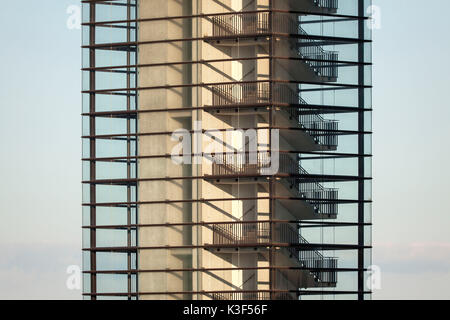 Dans l'escalier roulant chambre, Cologne Banque D'Images