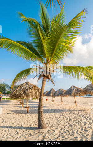 Bavaro Beach, Bavaro, Higuey, Punta Cana, République dominicaine. Banque D'Images