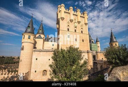 L'Alcazar de Ségovie, un site du patrimoine mondial, l'Espagne Banque D'Images
