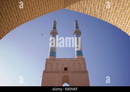 Mosquée jameh. mosquée de vendredi, Yazd, Iran Banque D'Images