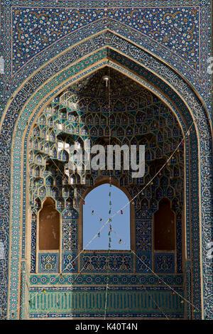 La mosquée jameh d'iwan. mosquée de vendredi, Yazd, Iran Banque D'Images