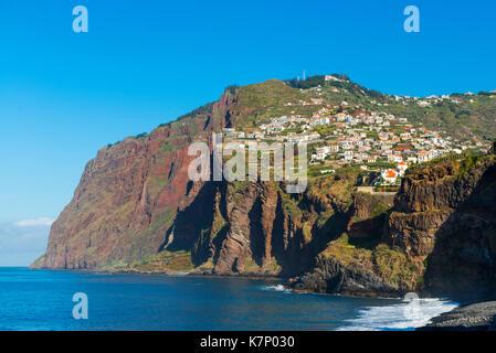 Côte à bientot Cabo Girao, l'île de Madère, Portugal Banque D'Images