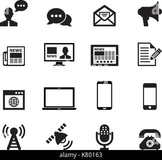 La communication icon set Banque D'Images
