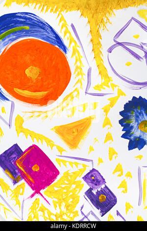 L'art abstrait arrière-plan. Peinture à l'huile sur toile lumineuse multicolore. texture. fragment d'oeuvre. des Banque D'Images
