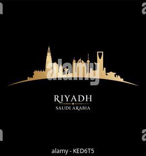 Riyadh Arabie Saoudite skyline silhouette vecteur détaillées Banque D'Images