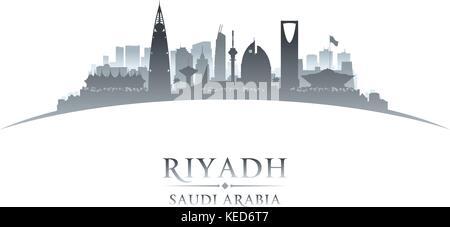 Riyadh Arabie Saoudite ville silhouette. Vector illustration Banque D'Images