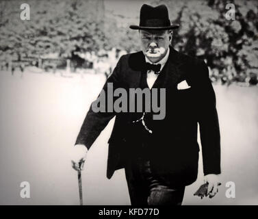 Winston Churchill, Sir Winston Leonard Spencer-Churchill (, ) 1874 - 1965 était un homme d'État britannique, officier Banque D'Images