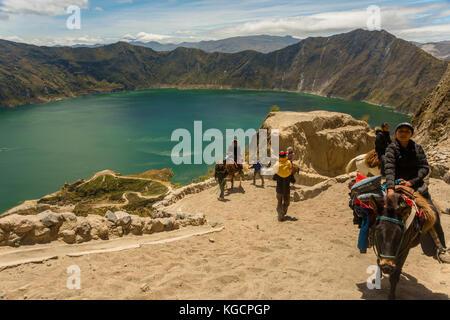 Amérique du Sud Équateur latacunga billet Banque D'Images