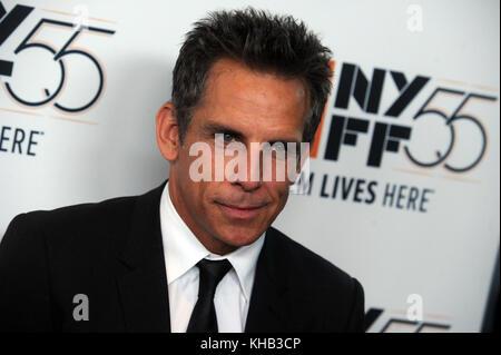 New York, NY - 01 octobre ben stiller assiste aux histoires eyerowitz «' projection pendant le 55e festival du film Banque D'Images