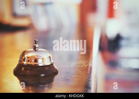 La réception de l'hôtel, check-in office, auberge ou motel background Banque D'Images