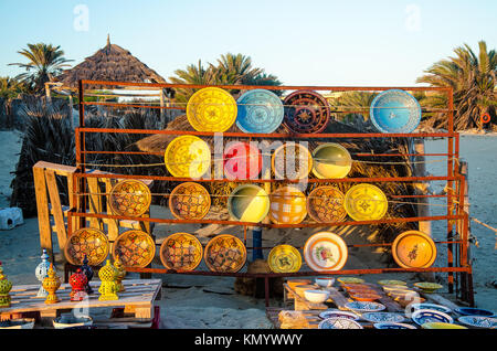 La céramique traditionnelle tunis, Djerba, 07 Nov 2014 Banque D'Images