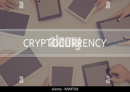 CONCEPT CRYPTOCURRENCY Concept d'entreprise. Banque D'Images