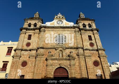 Eglise de San Pedro Claver, Cartagena de Indias, Colombie, Amérique du Sud. Banque D'Images