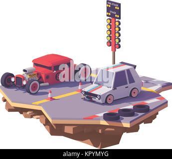 Vector poly faible drag race Banque D'Images