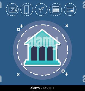 Fintech banque financière Investissement Concept Technologie Internet Banque D'Images