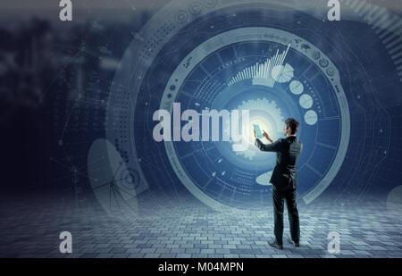 Concept d'affaires et technologiques, financières, la technologie de l'Internet des objets, l'image abstraite Visual Banque D'Images