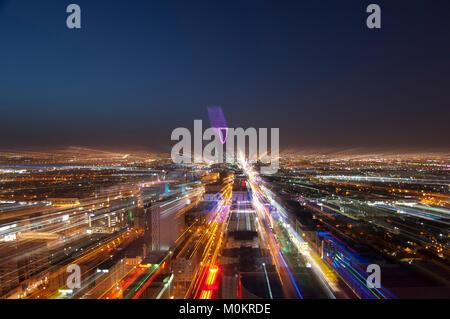 Riyadh skyline at night #6 Banque D'Images