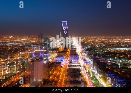 Riyadh skyline at night #3 Banque D'Images