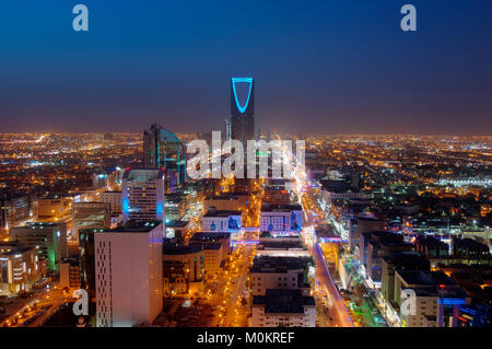Riyadh skyline at night #2 Banque D'Images