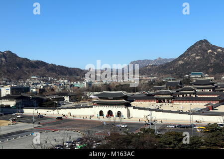 Porte Gwanghwamun à Séoul, Corée Banque D'Images