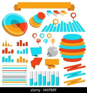 Ensemble d'éléments graphiques et d'objets Banque D'Images