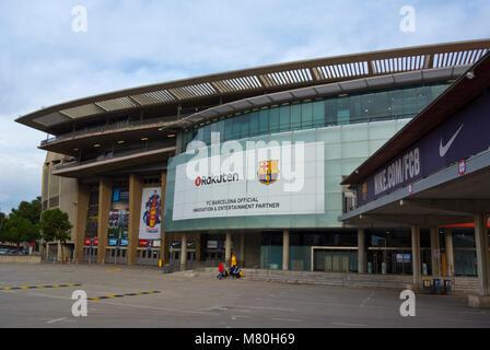 Le stade de football du FC Barcelone, le Camp Nou, Barcelona, Catalonia, Espagne Banque D'Images