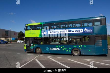 Fonction publique 2017 arriva hybride Volvo bus double étage; Transport et logistique dans Liverpool, Merseyside, Banque D'Images