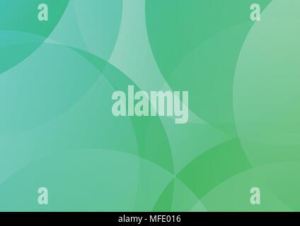 Abstract Vector Background transparent avec morceaux de cercles en vert clair et bleu Banque D'Images