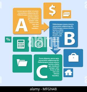 L'infographie d'origami. peut être utilisé pour la mise en page de workflow, bannières, le nombre l'étape des options web design. Vector illustration Banque D'Images