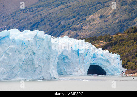 Pont de glace du glacier Perito Moreno, Patagonie, Argentine Banque D'Images