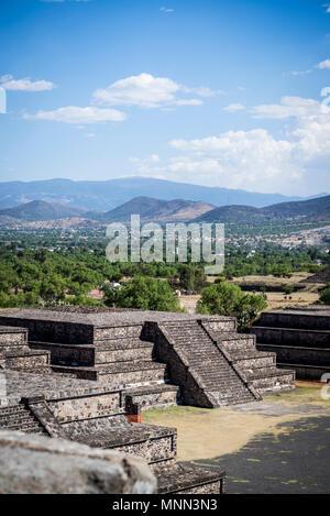Teotihuacan, l'ancienne ville pré-colombienne et un complexe archéologique au nord-est de la ville de Mexico, Mexique Banque D'Images