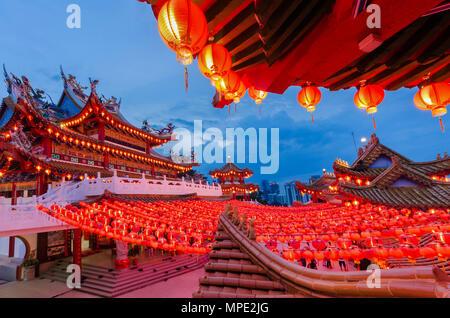 Kuala Lumpur - Malaisie,22 Février, 2018: Pendant le Nouvel An Chinois, beaucoup de gens viennent à Thean Hou Temple pour prier pour une meilleure année head Banque D'Images