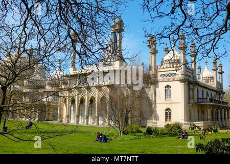 Pavillon de Brighton, Brighton, East Sussex, England, UK Banque D'Images