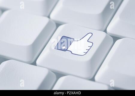 Comme symbole sur le clavier de l'ordinateur Banque D'Images