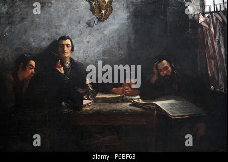 Samuel Hirszenberg (1865-1908). Peintre polonais. L'école de 1887, les Juifs. Musée national. Cracovie. La Pologne. Banque D'Images