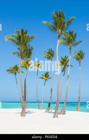 Juanillo Beach (playa Juanillo), Punta Cana, République dominicaine. Banque D'Images