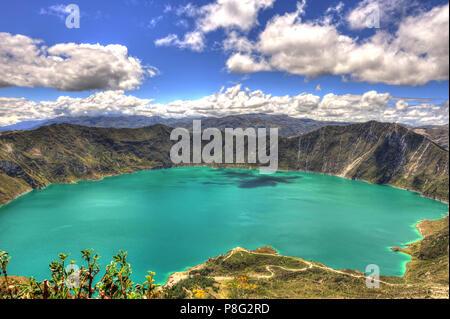 Lac de cratère Quilotoa, Equateur Banque D'Images