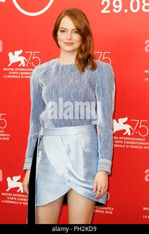 Emma Stone lors de la 'La Favorite' photocall au 75e Festival International du Film de Venise au Palazzo del Casino sur août 30,2018 à Venise, Italie Banque D'Images